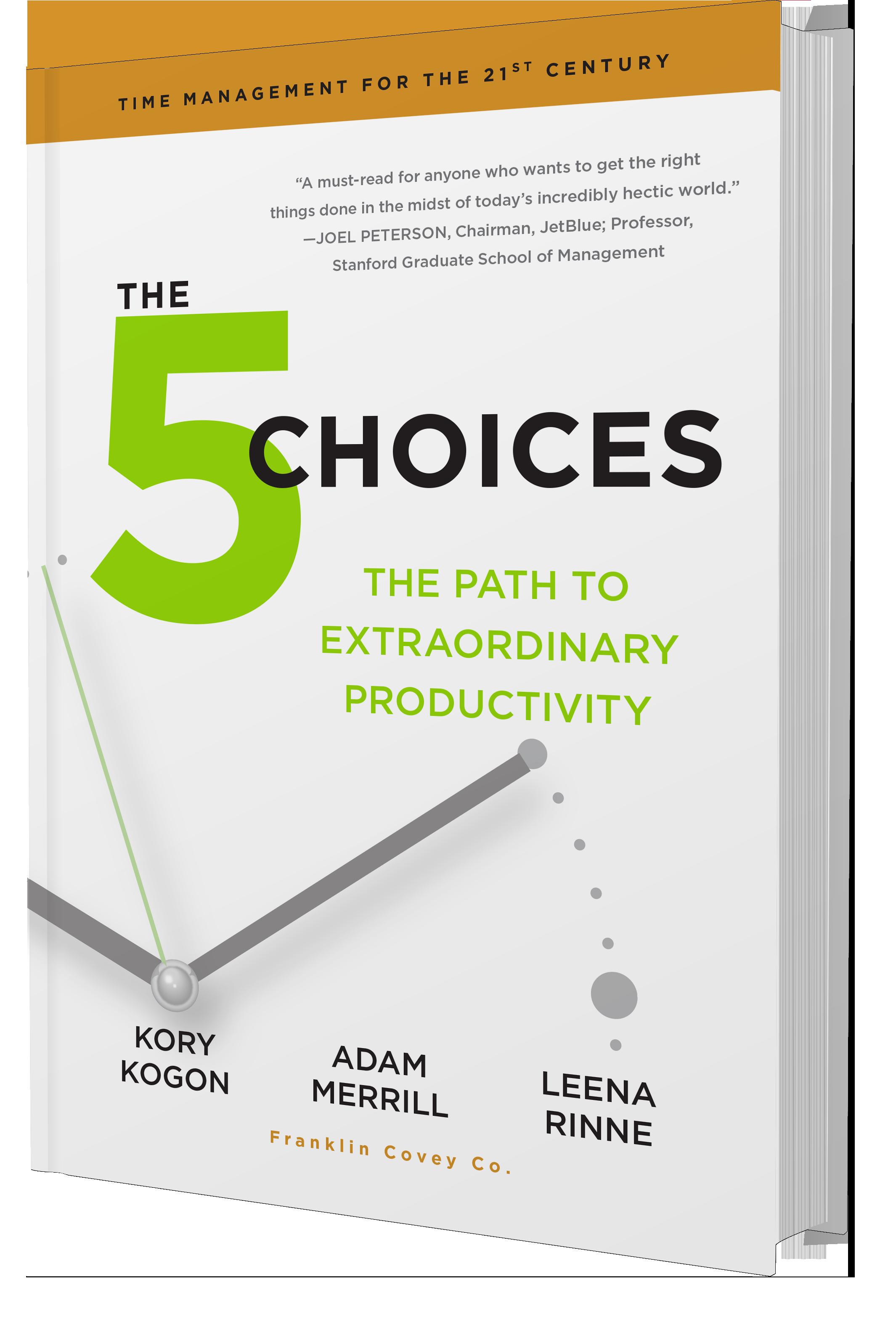 5 Choices 5 izvēles laika plānošana grāmata pirkt FranklinCovey Latvia kā uzlabot produktivitāti