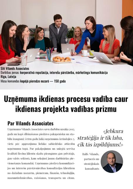 Vīlands Associates | FranklinCovey Latvia | Case study | Projektu vadība