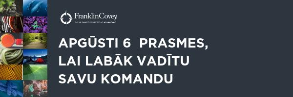 Risinājums Jaunā vadītāja domāšana FranklinCovey Latvia